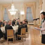 Ms. Sabine de Bethune, President of the Senate of Belgium, hosted a dinner in honour of the Prime Minister