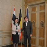Prime Minister met with H.E. Mr. Elio Di Rupo, Prime Minister of Belgium