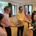 H.E. Apichart Chinwanno gave Thai presents to students of St. Joseph School