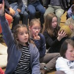 Students of St. Joseph School actively answered the questions