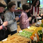 Students of St.Joseph School ate Thai dessert