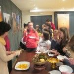 Students of St.Joseph School ate Thai fruits